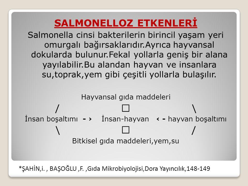 SALMONELLOZ ETKENLERİ