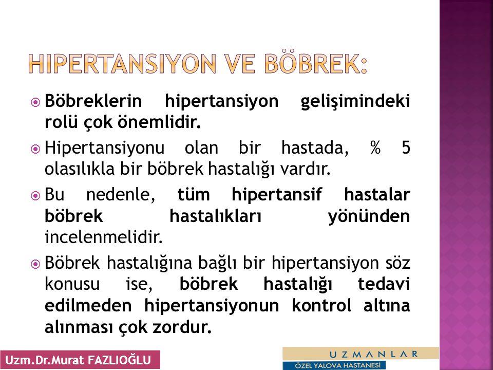 Hipertansiyon ve Böbrek: