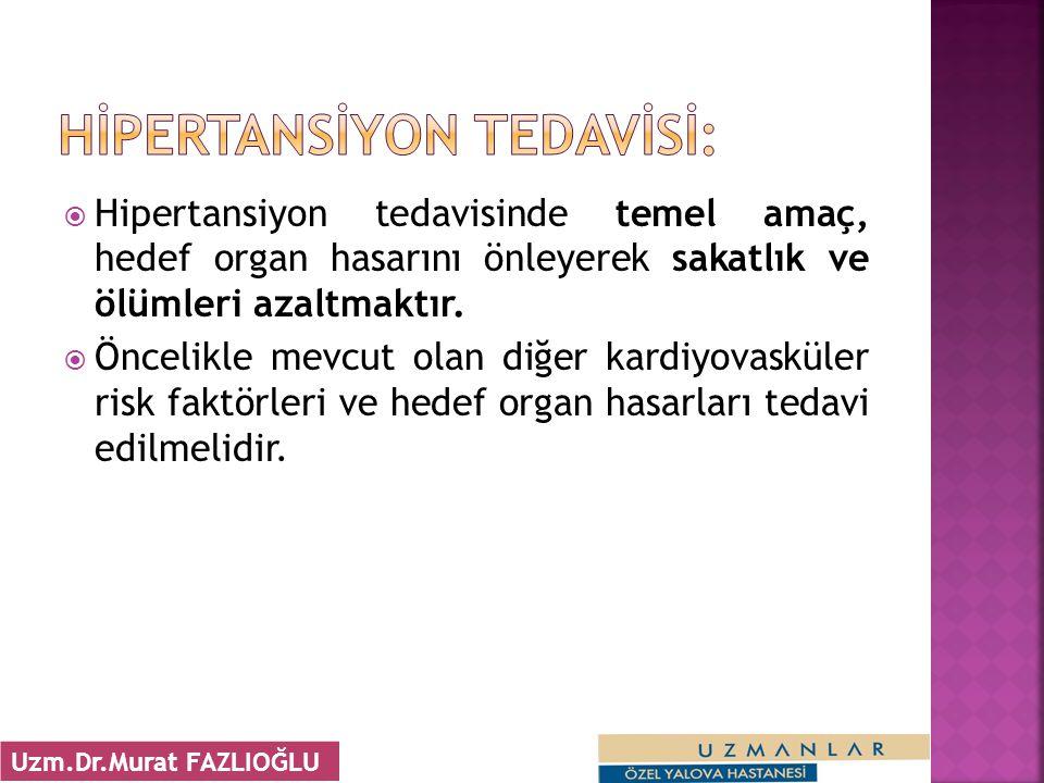 HİPERTANSİYON TEDAVİSİ: