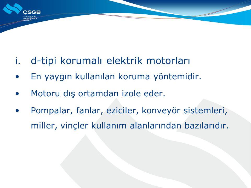 d-tipi korumalı elektrik motorları