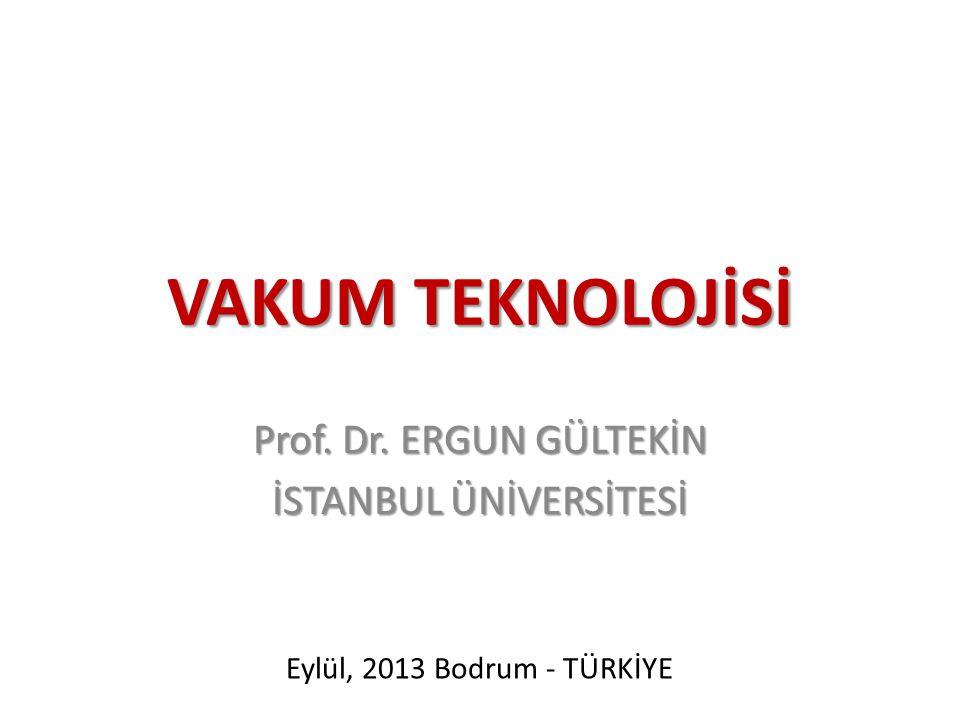 Prof. Dr. ERGUN GÜLTEKİN İSTANBUL ÜNİVERSİTESİ