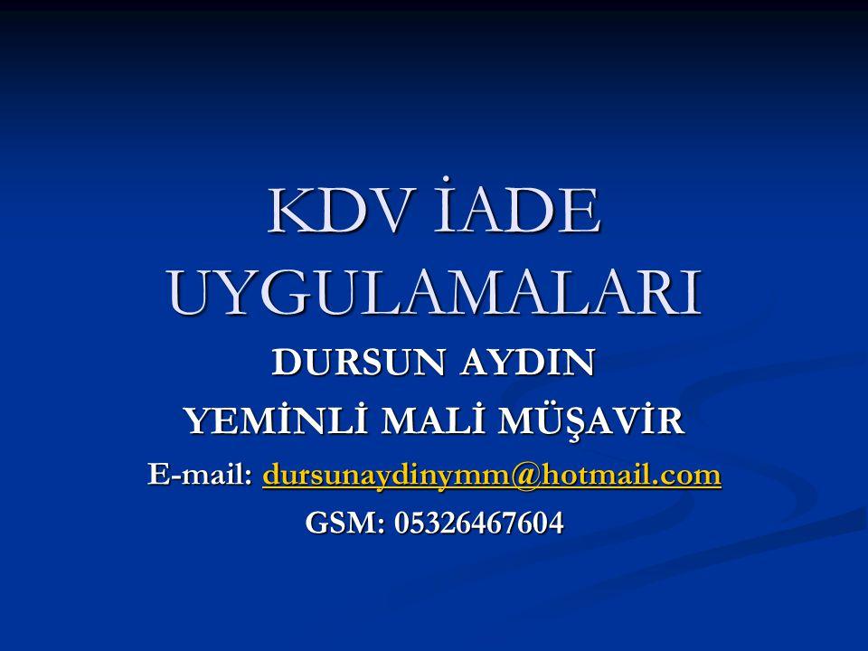 E-mail: dursunaydinymm@hotmail.com