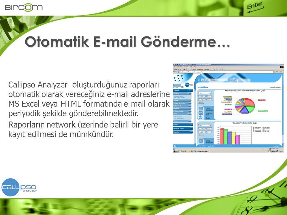 Otomatik E-mail Gönderme…