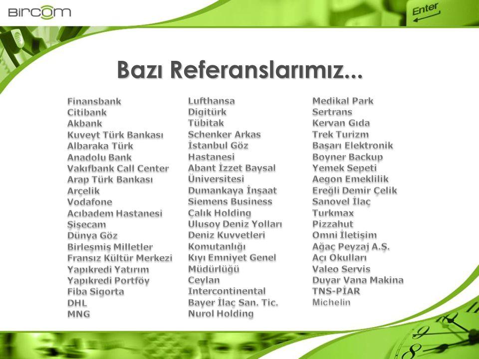 Bazı Referanslarımız... Finansbank Citibank Akbank Kuveyt Türk Bankası