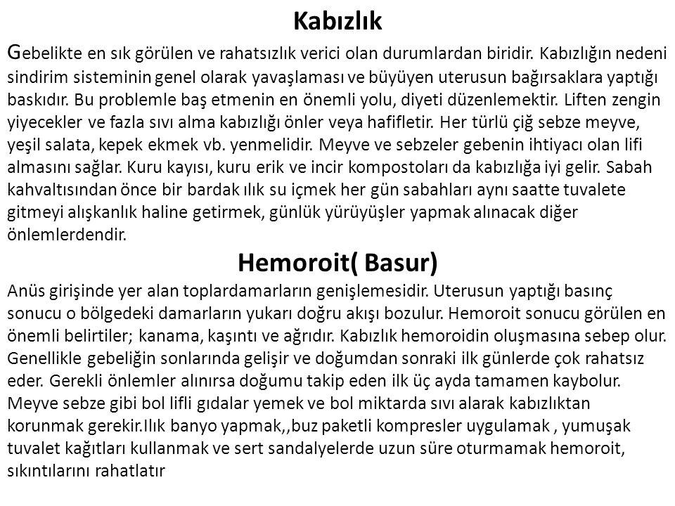 Kabızlık Hemoroit( Basur)