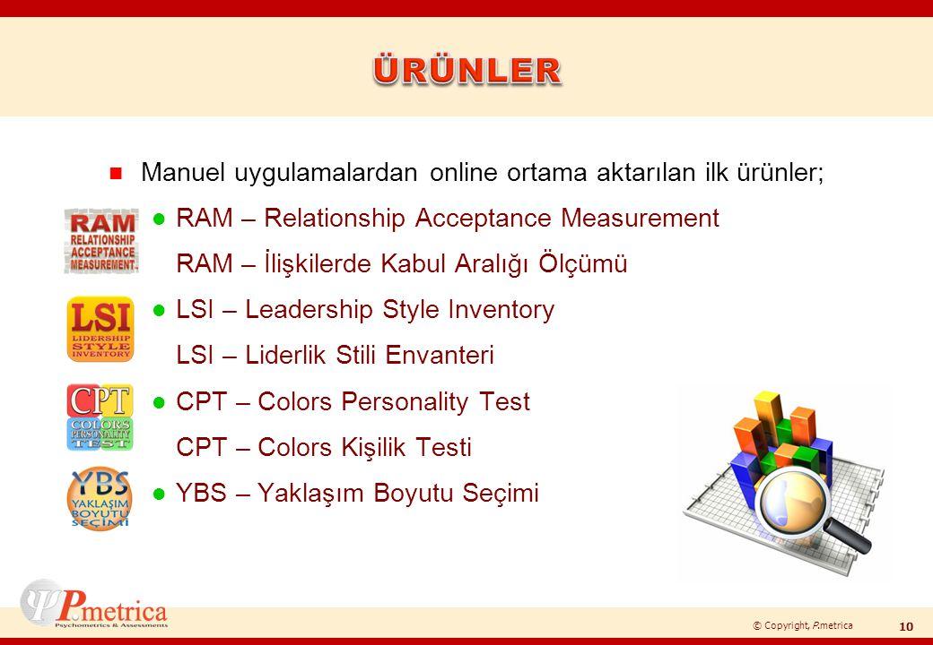 ÜRÜNLER Manuel uygulamalardan online ortama aktarılan ilk ürünler;