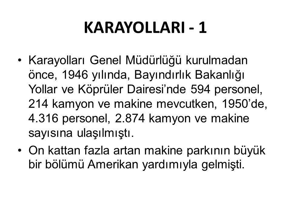 KARAYOLLARI - 1
