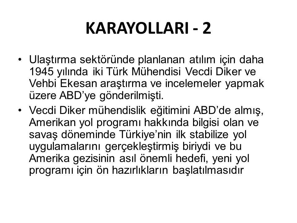 KARAYOLLARI - 2