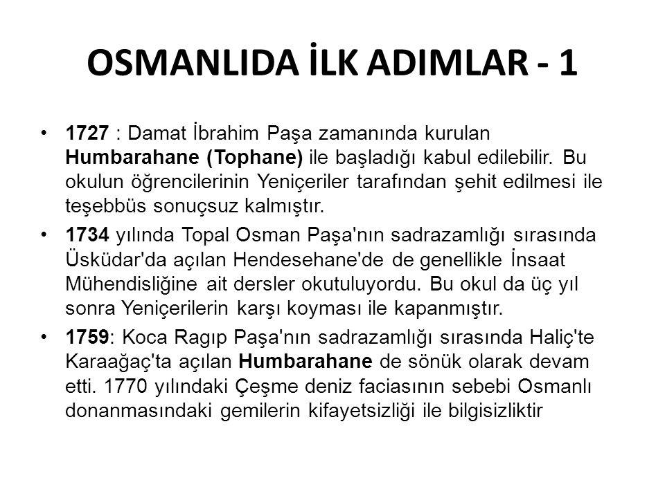 OSMANLIDA İLK ADIMLAR - 1