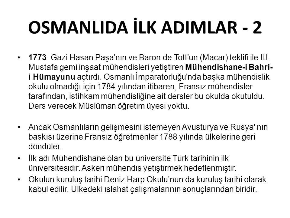 OSMANLIDA İLK ADIMLAR - 2