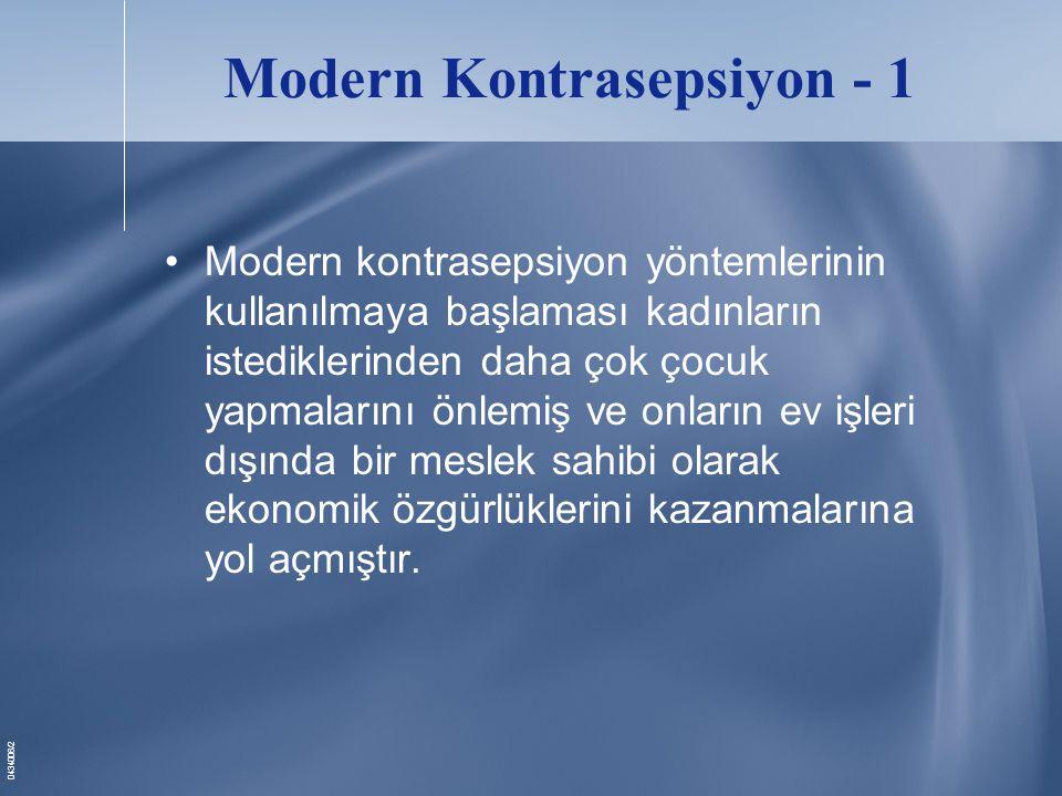 Modern Kontrasepsiyon - 1