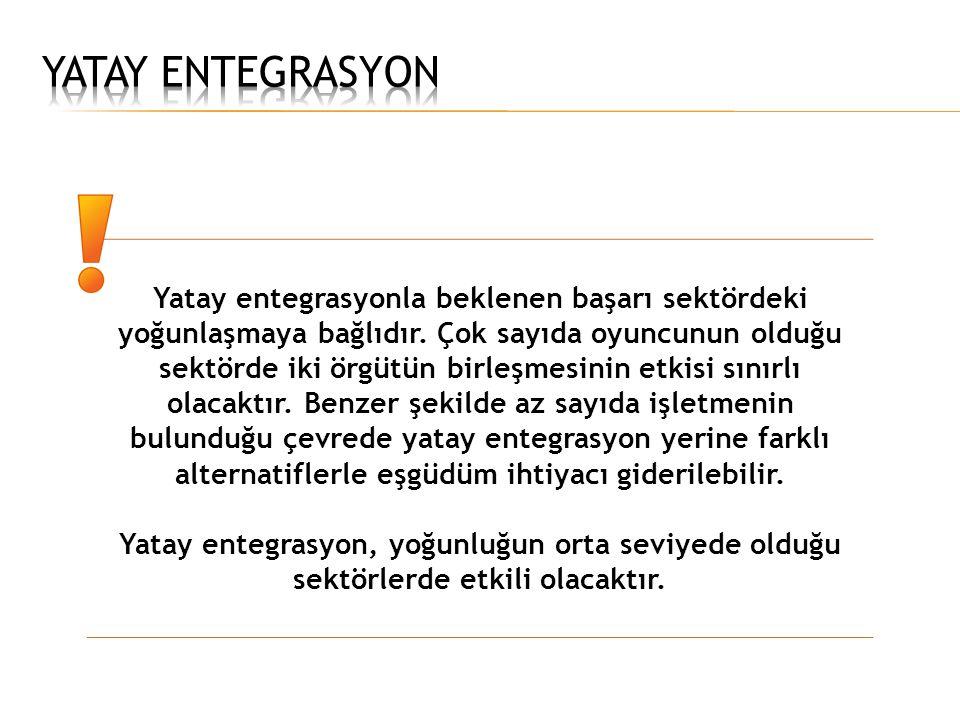 YATAY ENTEGRASYON
