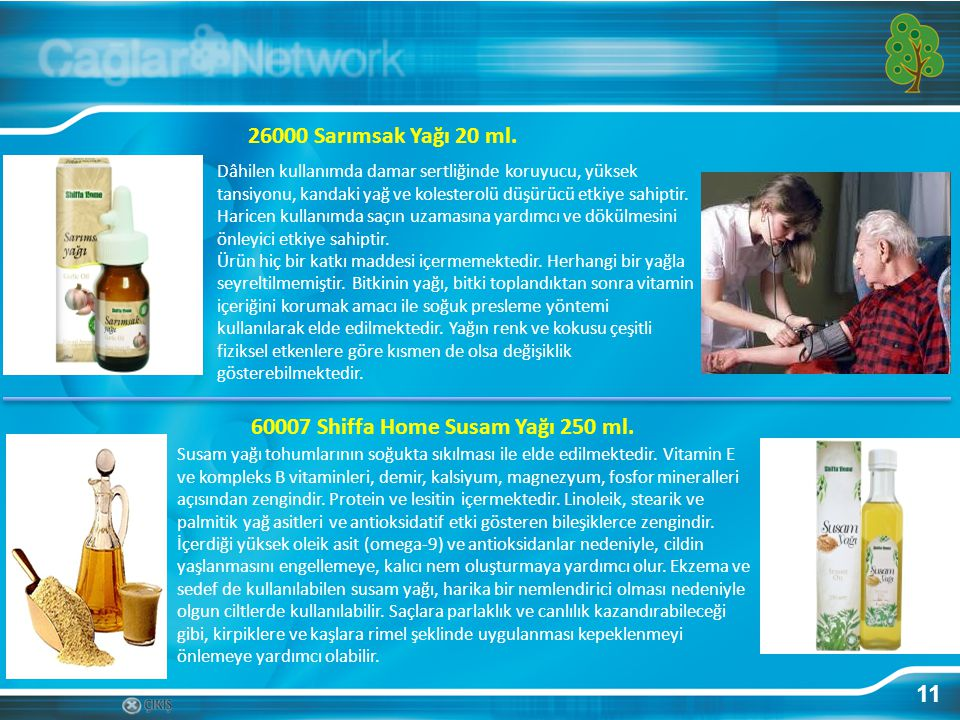 60007 Shiffa Home Susam Yağı 250 ml.