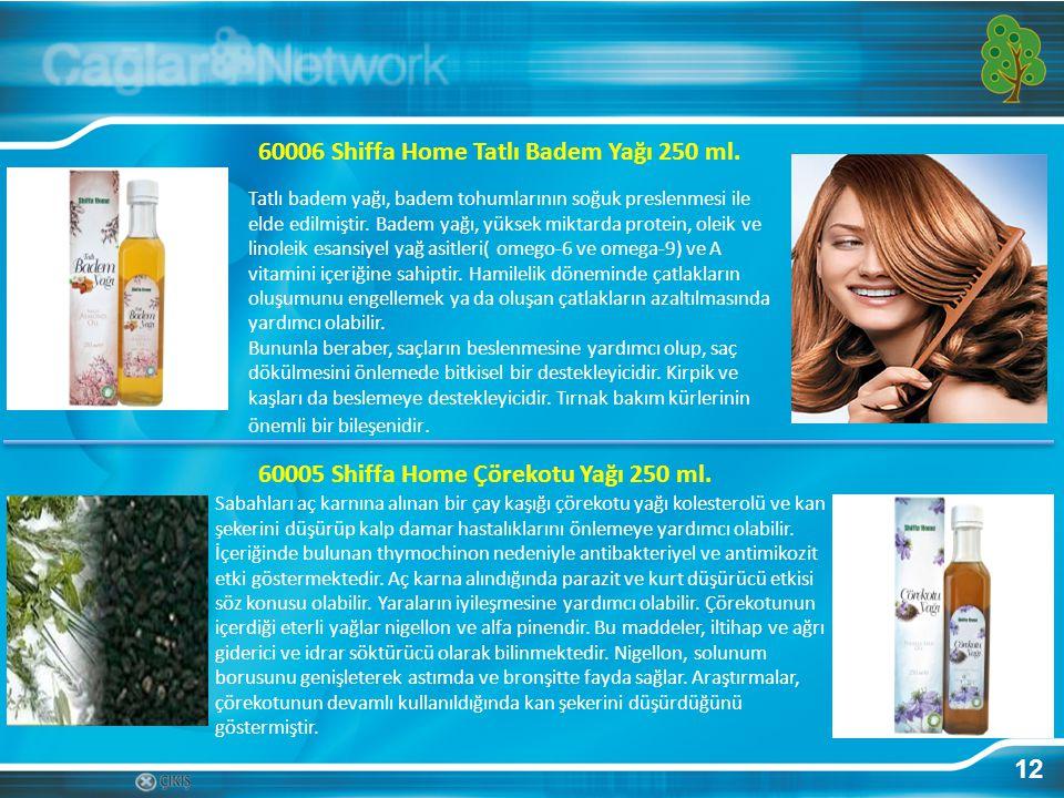 60006 Shiffa Home Tatlı Badem Yağı 250 ml.