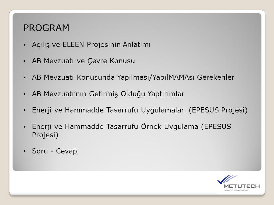 PROGRAM Açılış ve ELEEN Projesinin Anlatımı