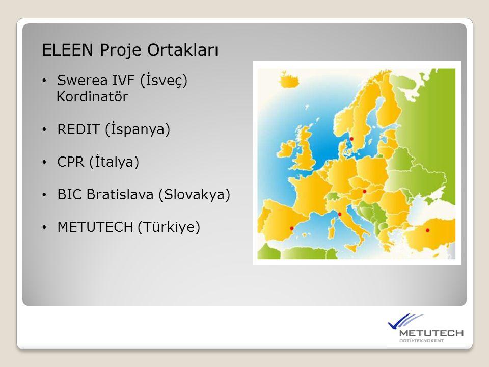 ELEEN Proje Ortakları Swerea IVF (İsveç) Kordinatör REDIT (İspanya)
