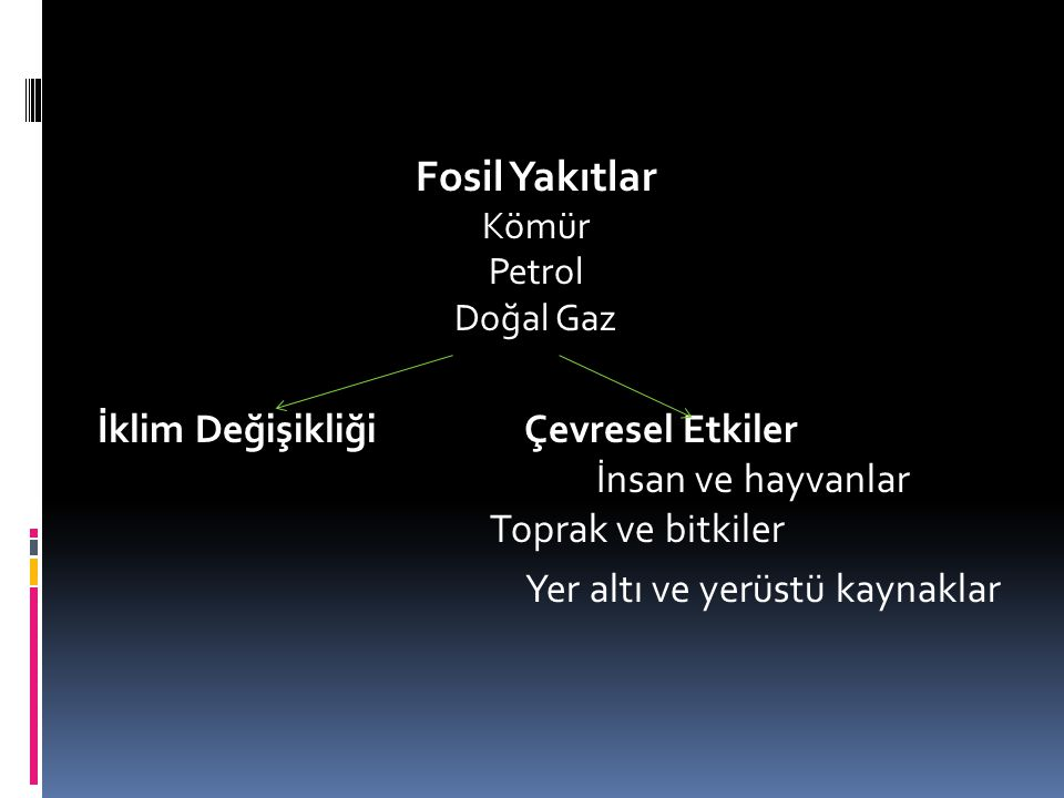 Fosil Yakıtlar Kömür. Petrol. Doğal Gaz.