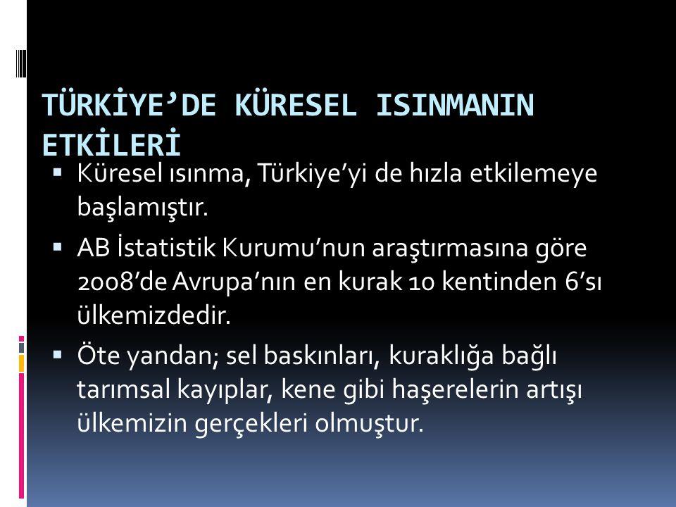 TÜRKİYE'DE KÜRESEL ISINMANIN ETKİLERİ