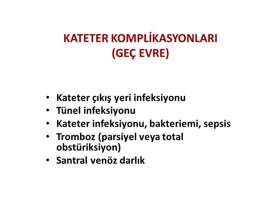 KATETER KOMPLİKASYONLARI (GEÇ EVRE)