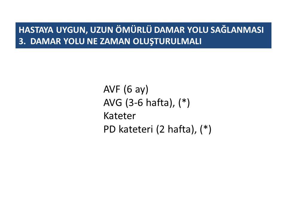 PD kateteri (2 hafta), (*)