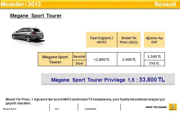 Megane Sport Tourer Privilege 1,5 : 53.800 TL