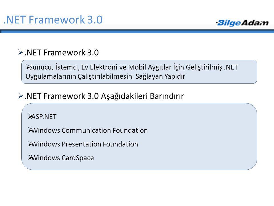 .NET Framework 3.0 .NET Framework 3.0