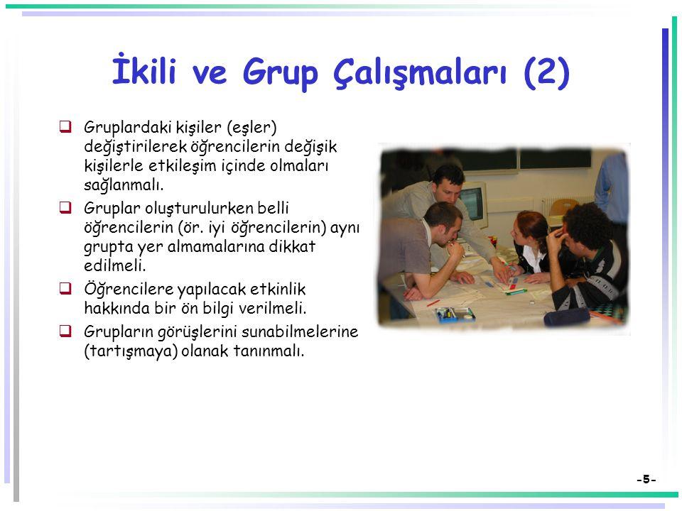 İkili ve Grup Çalışmaları (2)