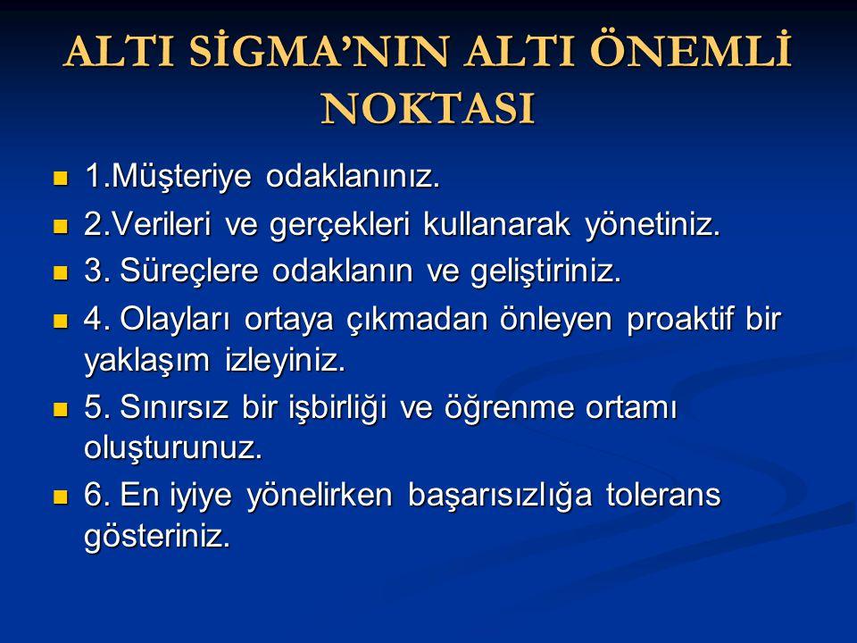 ALTI SİGMA'NIN ALTI ÖNEMLİ NOKTASI