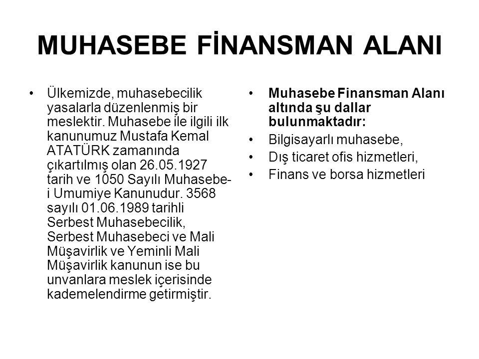 MUHASEBE FİNANSMAN ALANI