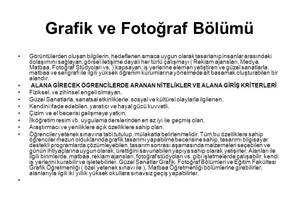 Grafik ve Fotoğraf Bölümü