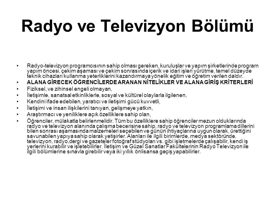 Radyo ve Televizyon Bölümü