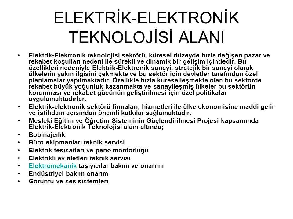 ELEKTRİK-ELEKTRONİK TEKNOLOJİSİ ALANI
