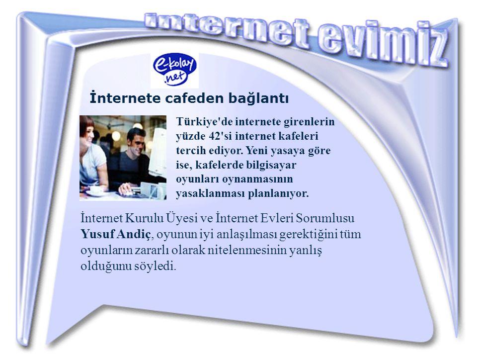 İnternete cafeden bağlantı