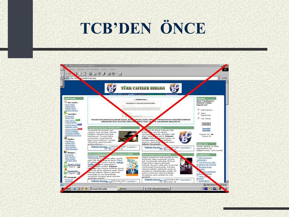 TCB'DEN ÖNCE