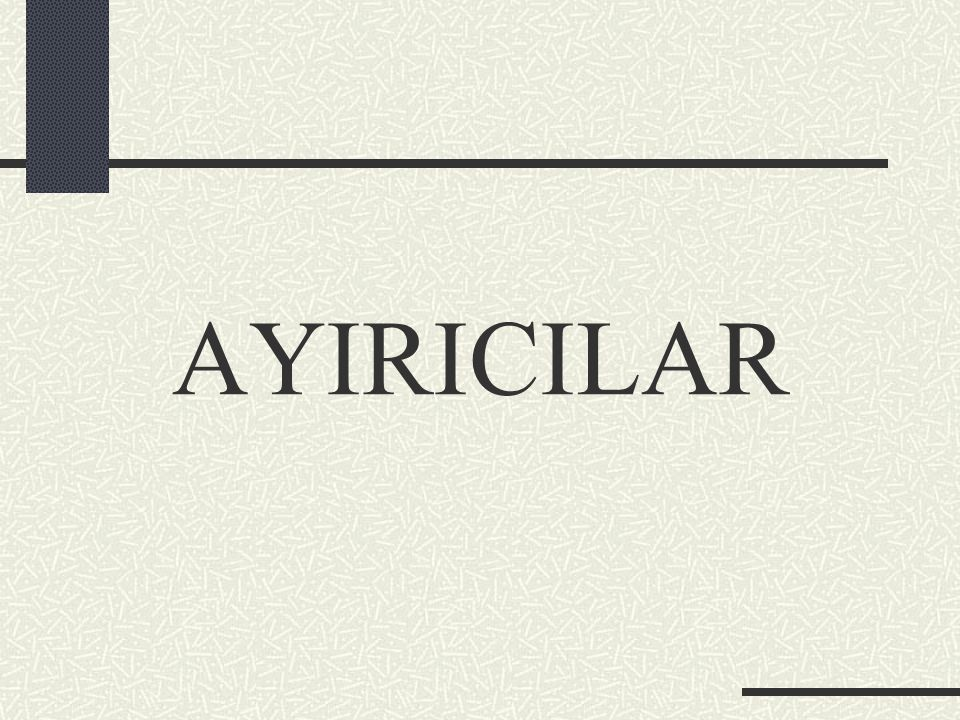 AYIRICILAR