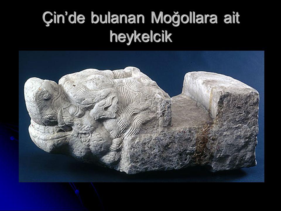 Çin'de bulanan Moğollara ait heykelcik