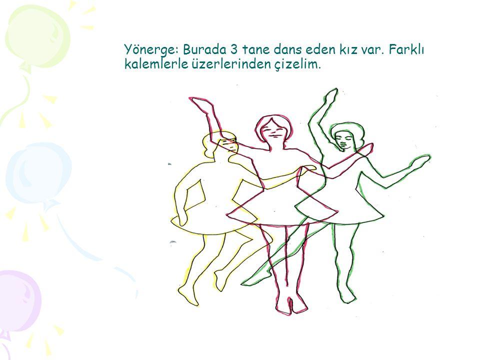Yönerge: Burada 3 tane dans eden kız var. Farklı