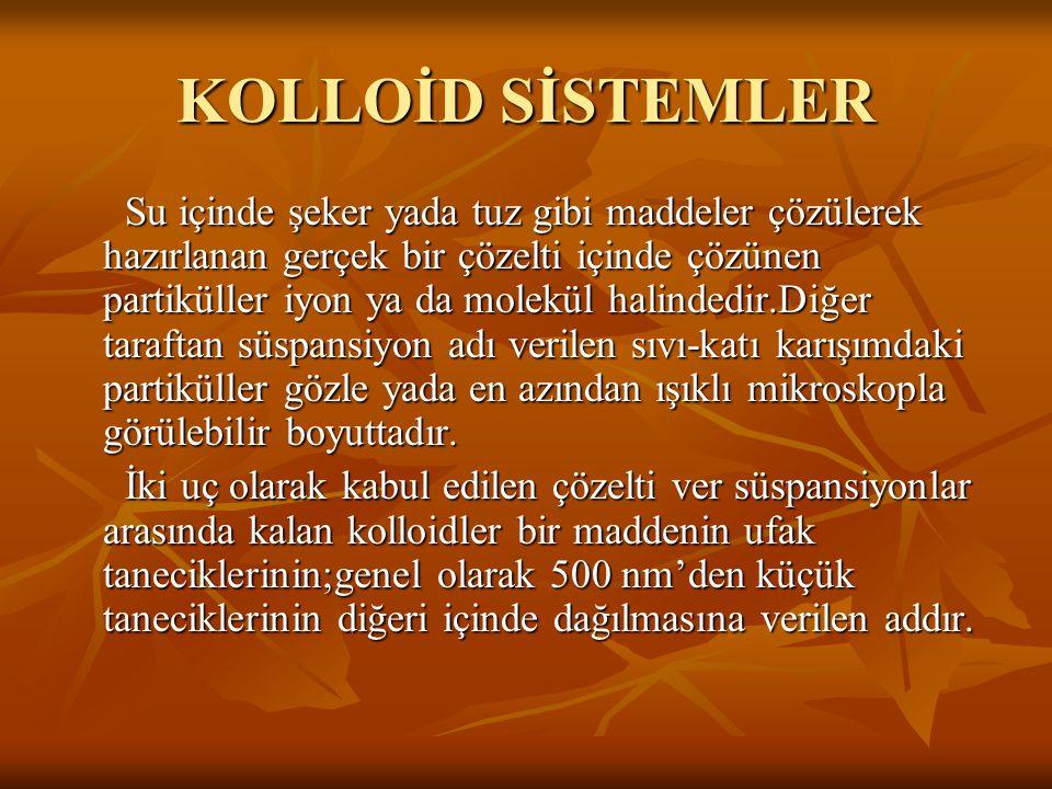 KOLLOİD SİSTEMLER