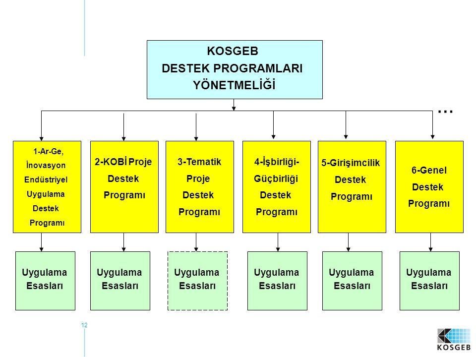 … KOSGEB DESTEK PROGRAMLARI YÖNETMELİĞİ 2-KOBİ Proje Destek Programı