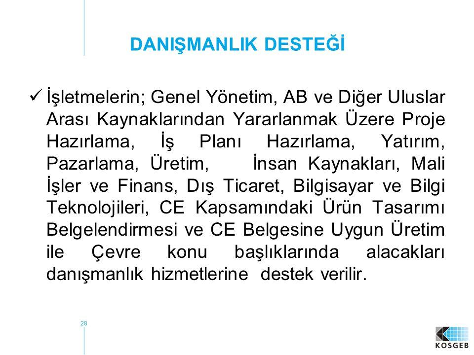 DANIŞMANLIK DESTEĞİ
