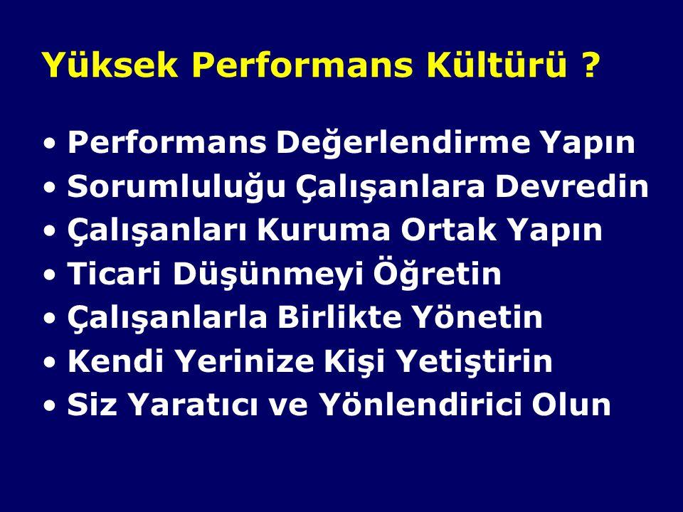 Yüksek Performans Kültürü