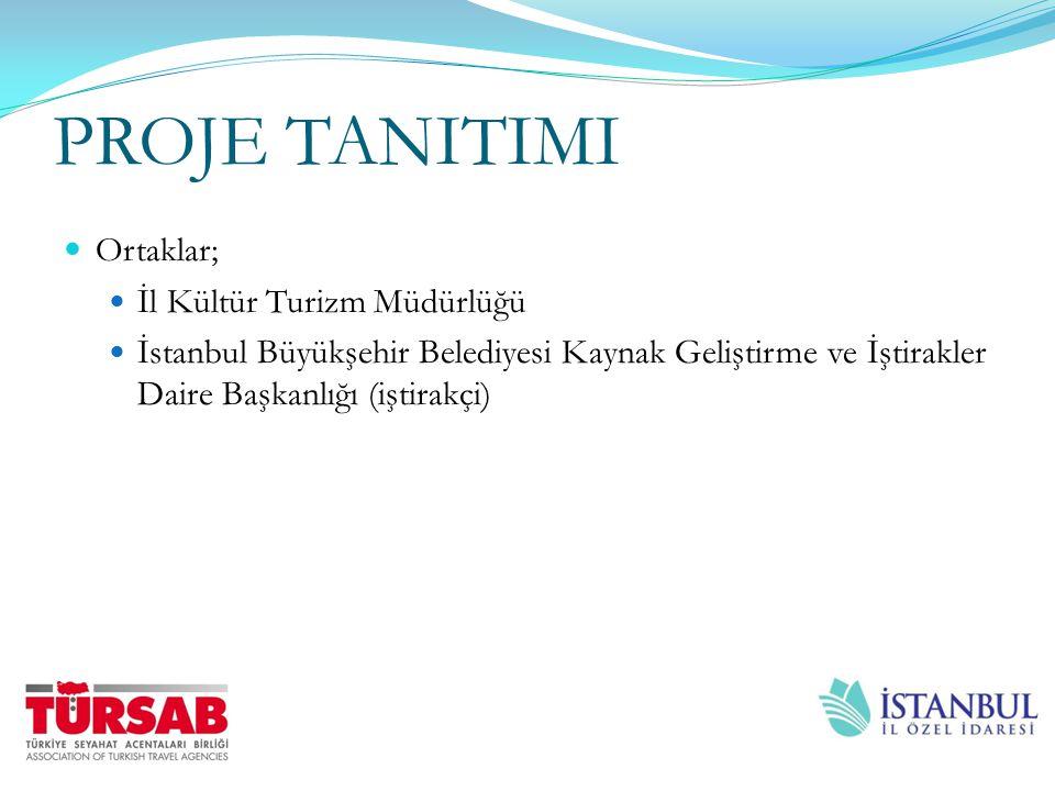 PROJE TANITIMI Ortaklar; İl Kültür Turizm Müdürlüğü