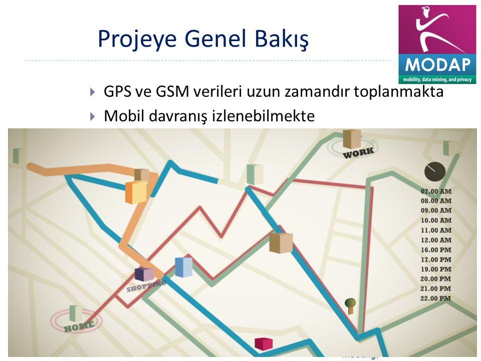 Projeye Genel Bakış GPS ve GSM verileri uzun zamandır toplanmakta