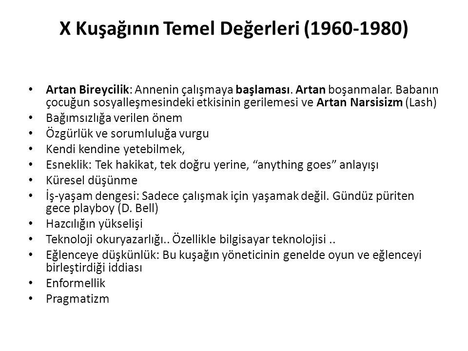 X Kuşağının Temel Değerleri (1960-1980)