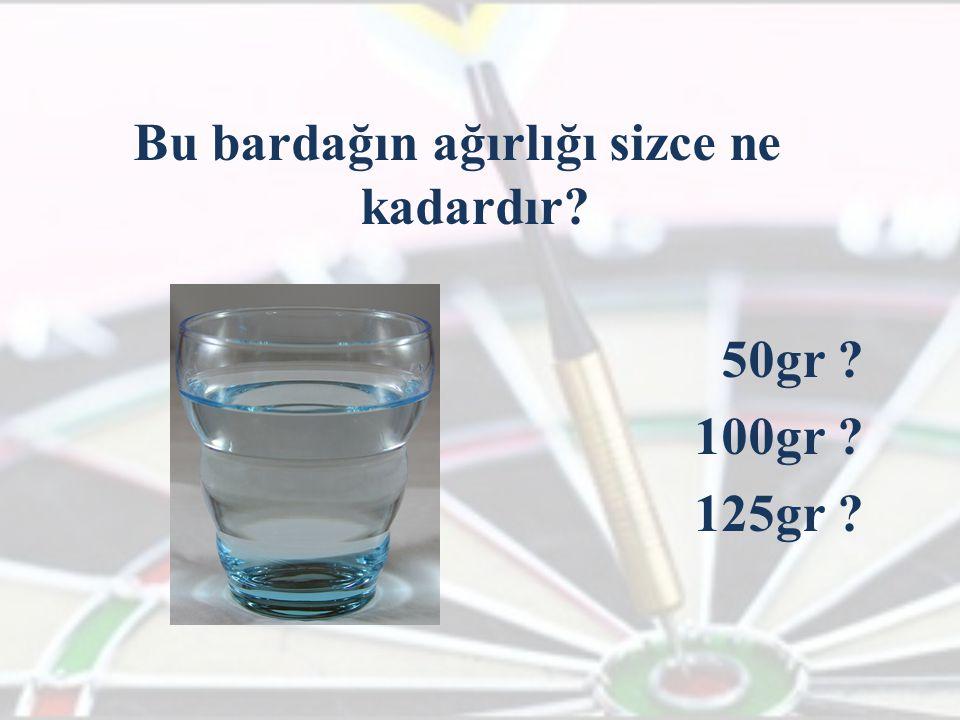 Bu bardağın ağırlığı sizce ne kadardır 50gr 100gr 125gr