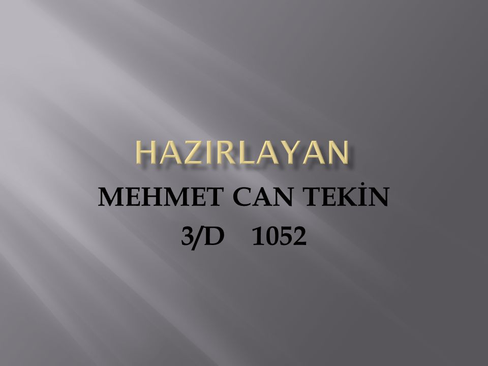 hazIRLAYAN MEHMET CAN TEKİN 3/D 1052