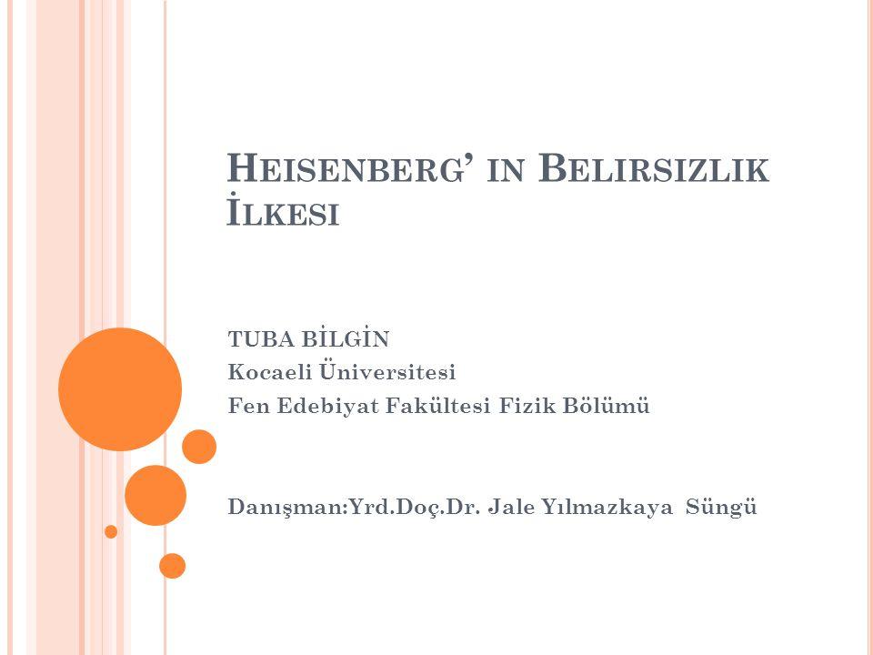 Heisenberg' in Belirsizlik İlkesi