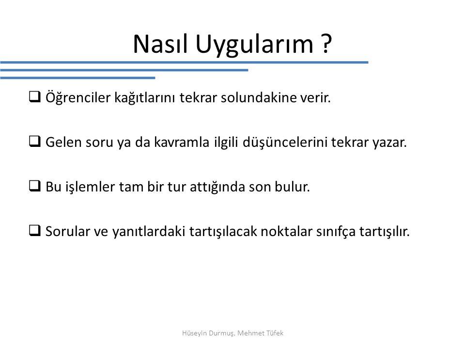 Hüseyin Durmuş, Mehmet Tüfek