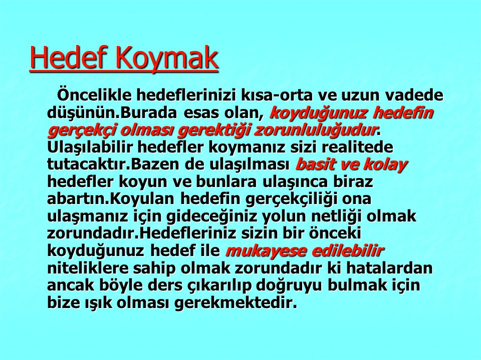 Hedef Koymak