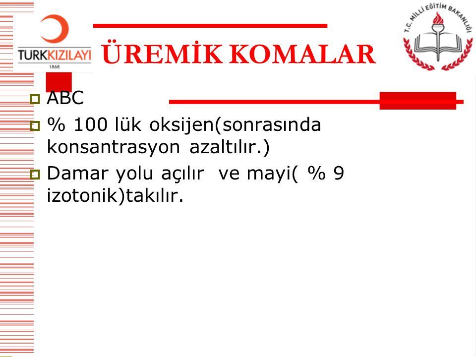 ÜREMİK KOMALAR ABC.